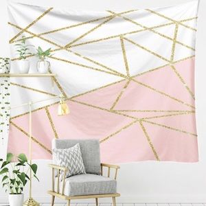 ❗️$5/&25❗️pink & gold geometric tapestry